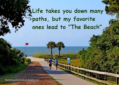 Beach Life Words of Wisdom All Paths Lead to The Beach